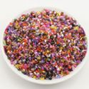 Beads, Seed beads, Glass, Assorted colours, Cylindrical, 2mm x 2mm, 25g, 1700 Beads, (SSG048)